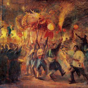 39 Qin Xuanfu The Lantern Festival oil on canvas 63 x 80 cm 1944 290x290 - Qin Xuanfu