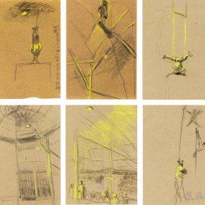 40-qin-xuanfu-circus-6-pieces-paper-drawing-24-5-x-18-5-cm-x-6-1945