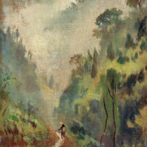 51-qin-xuanfu-went-into-emei-mountain-oil-on-canvas-46-x-33-5-cm-1946