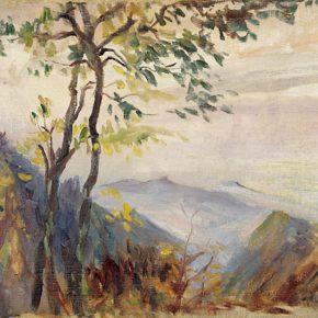 55-qin-xuanfu-landscape-of-mount-emei-oil-on-canvas-55-x-74-cm-1946