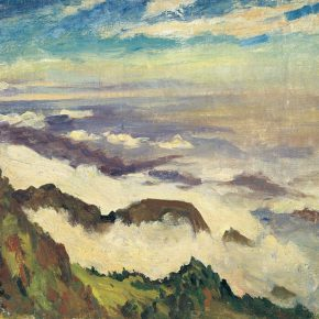 56-qin-xuanfu-sea-of-clouds-in-mount-emei-oil-on-canvas-50-x-60-cm-1946