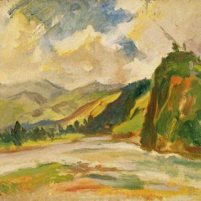 57 Qin Xuanfu Dujiangyan oil on canvas 50 × 60 cm 1947 290x290 - Qin Xuanfu