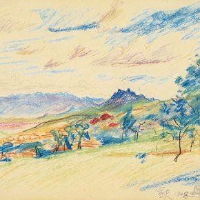 59 Qin Xuanfu Landscape of Qingdao No.1 pastel on paper 29.5 x 38 cm 1948 290x290 - Qin Xuanfu