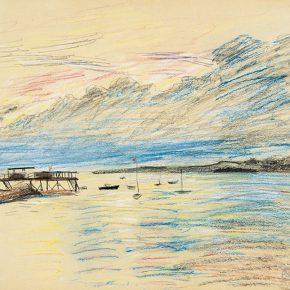 61-qin-xuanfu-landscape-of-qingdao-no-3-pastel-on-paper-29-5-x-38-cm-1948