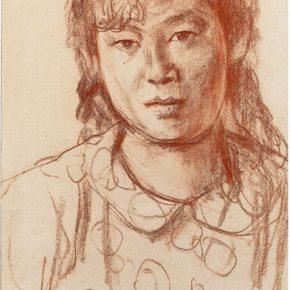 67-qin-xuanfu-portrait-of-a-woman-paper-drawing-58-5-x-38-5-cm-1962