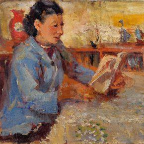 69 Qin Xuanfu Li Jiazhen's Portrait oil on cardboard 31 × 42 cm 1956 290x290 - Qin Xuanfu
