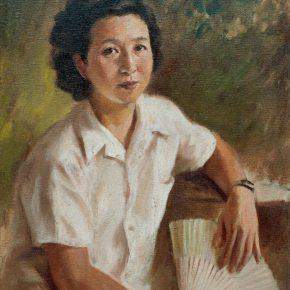 70-qin-xuanfu-summer-li-jiazhens-portrait-oil-on-canvas-64-x-50-cm-1956