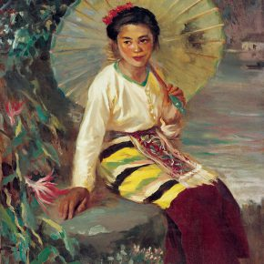 73 Qin Xuanfu Spring of the Southland oil on canvas 93 × 73 cm 1962. 290x290 - Qin Xuanfu