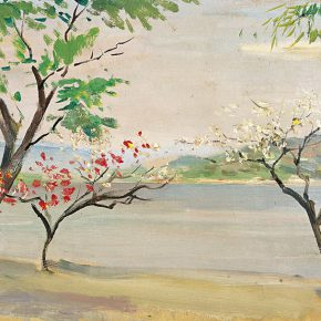 89-qin-xuanfu-spring-of-the-west-lake-oil-on-canvas-36-x-55-cm-1963
