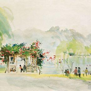 95-qin-xuanfu-spring-tour-gouache-on-paper-39-x-49-cm-1963