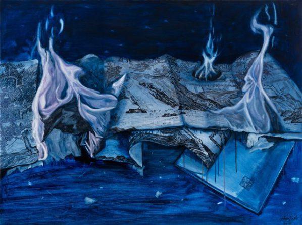 Chen Jiaye, Burn Series-2, 2016; painting, 120x160cm