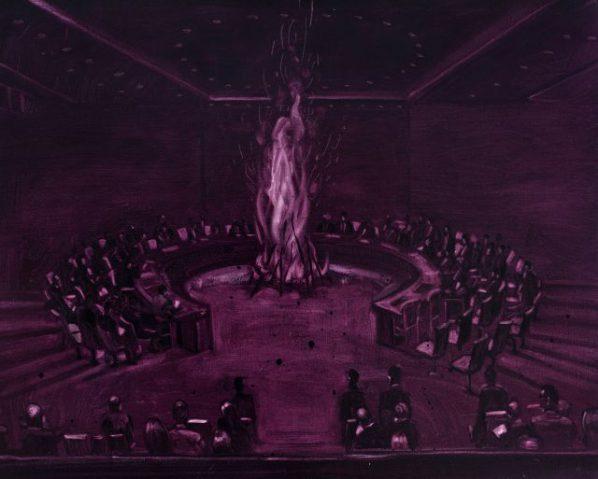 Chen Jiaye, Meeting, 2016; painting, 80x100cm