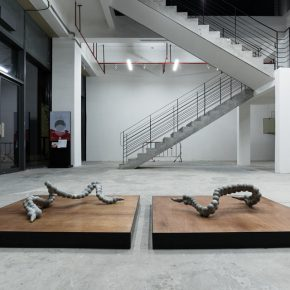 """Installation View of GLASS INTESTINE 06 290x290 - Shanghai Museum of Glass presents """"ANNEALING   GLASS INTESTINE"""" featuring the work by Yang Xinguang"""