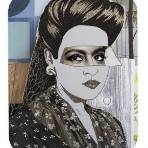 Mickalene Thomas Clarivel with Black Blouse and White Ribbon 2016 Rhinestones and acrylic on wood panel 152.4 x 121.92cm 290x290 - Lehmann Maupin presents Mickalene Thomas's first solo exhibition in China