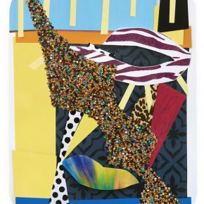Mickalene Thomas Untitled 17 2016 Rhinestones glitter acrylic and oil paint on wood panel 152.4 x 121.92 cm 290x290 - Lehmann Maupin presents Mickalene Thomas's first solo exhibition in China