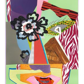 Mickalene Thomas Untitled 18 2016 Rhinestones glitter acrylic and oil paint on wood panel 243.84 x 182.88cm 290x290 - Lehmann Maupin presents Mickalene Thomas's first solo exhibition in China