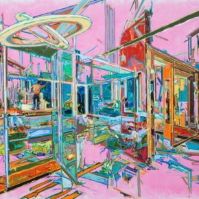 "You Jin Pink 2016 objects and painting 120x160cm 290x290 - PARKVIEW ART Hong Kong presents You Jin's solo exhibition ""Interlaced Dimensions"""