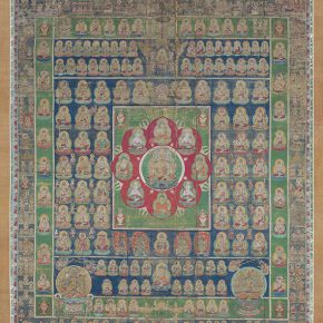 "002 2 Mandala of the Two Realms Kamakura period 14th century Pair of hanging scrolls color on silk 235.5 x 197.2 cm each Collection by Mimuroto ji Temple Kyoto 290x290 - Mori Art Museum presents ""The Universe and Art: Princess Kaguya, Leonardo da Vinci, teamLab"""