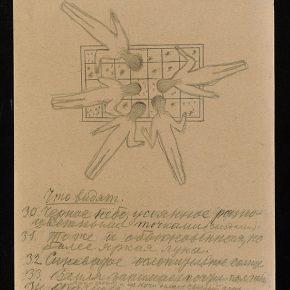 "012 Konstantin Tsiolkovsky Drawing from the Manuscript Album of Cosmic Journeys 1933 Pencil on paper 31.1 x 22.7 cm 290x290 - Mori Art Museum presents ""The Universe and Art: Princess Kaguya, Leonardo da Vinci, teamLab"""