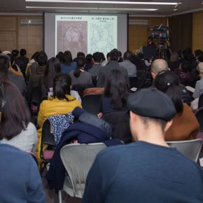 """08 View of the first lecture 290x290 - Creating New Opportunities of Mutual Cultural Learning and Communication – """"New Knowledge of Buddhist Art in Central Asia"""""""