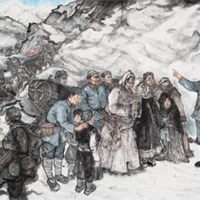11 A collective creation by the School of Chinese Painting CAFA 3.3 Feet From the Sky 200 × 500 cm 2016  290x290 - Song Xiaoxia: Contemporary Transformation of the Organizational Mechanism of the College Art Creation