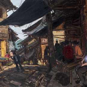 13-bai-xiaogang-the-red-army-street-no-4-oil-on-canvas-75-x-85-cm-2016
