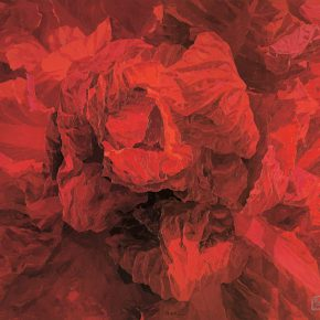 "37 Xu Xiaoyan Blooming·Red duplex 230 x 300 cm oil on canvas 2003 290x290 - ""Feminine Power: New Perspective"" Opened at Daqian Contemporary Art Center"
