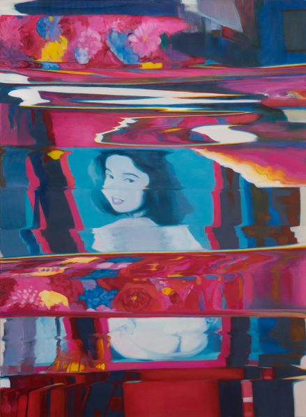 Tao Xian, Kabukicho, Oil on linen, 58 x 42in., 2016