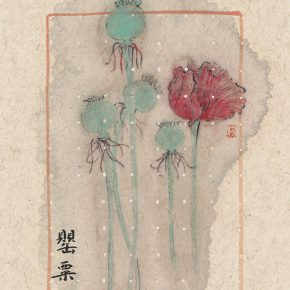 zhang-yanzi-ecstasy-no-2-poppy-2016-ink-on-paper-20x30cm-2-pieces-01