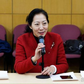 "01 Assistant to the CAFA President Dean of the Academic Affairs Office Wang Xiaolin delivered a speech 290x290 - Teacher Development Center Launched ""Three Good Friends"" Discussion Session Two: When the Art Meets the History"