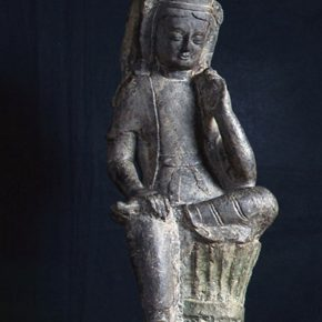 01 Northern Qi Dynasty, Stone Statue of a Seated Buddha, H56cm