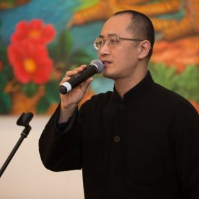 "03 Prof. Qiu Zhijie Dean of the School of the Experimental Art at CAFA chaired the opening ceremony 290x290 - ""Reciprocal Enlightenment"" – The Third Experimental Art Exhibition was unveiled"