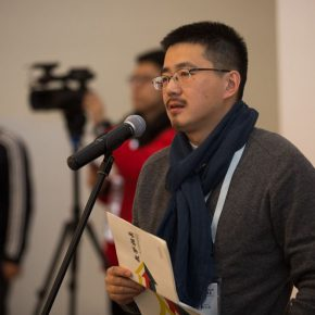 "04 Professor Wu Xiaochuan Director of the Graduate School of the Xi'an Academy of Fine Arts spoke at the opening ceremony 290x290 - ""Reciprocal Enlightenment"" – The Third Experimental Art Exhibition was unveiled"