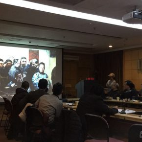 """05 Prof. Li Xiaolin talked about the creation of """"The Rise of the Commercial Group – Shanxi Businessmen"""""""