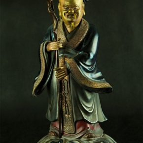 09 The Bodiless God of Longevity with thin material, 22.5 x 22.5 cm, natural Chinese lacquer, 1915-1952