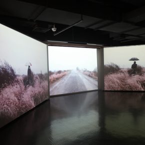 """11 Tianjin Academy of Fine Arts Zhang Meng exhibition view of A Flowing Alkaline River 290x290 - """"Reciprocal Enlightenment"""" – The Third Experimental Art Exhibition was unveiled"""