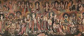 "12 Wang Yingsheng Indra Brahma Figure 210 x 1637 cm mural painting 2016 290x125 - Restoring Craftsmanship and the Beauty of Crafts: ""Echo of Civilization: Part II Chinese Craftsmen"" Opened at the Ancestral Temple"