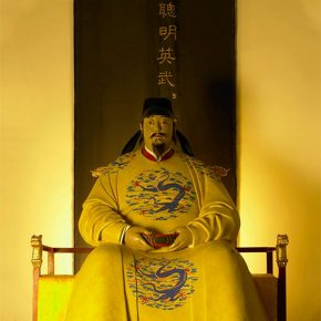 "15 Tian Shixin Emperor Taizong of Tang 211 x 178 x 183 cm Chinese lacquer 2016 290x290 - Restoring Craftsmanship and the Beauty of Crafts: ""Echo of Civilization: Part II Chinese Craftsmen"" Opened at the Ancestral Temple"