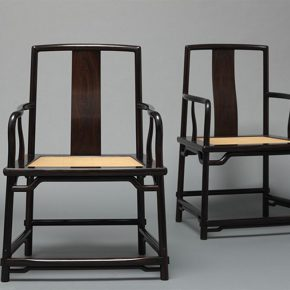 "16 Tian Jiaqing Luoguocheng Sector Armchair 650 x 500 x 980 rosewood 1999 290x290 - Restoring Craftsmanship and the Beauty of Crafts: ""Echo of Civilization: Part II Chinese Craftsmen"" Opened at the Ancestral Temple"