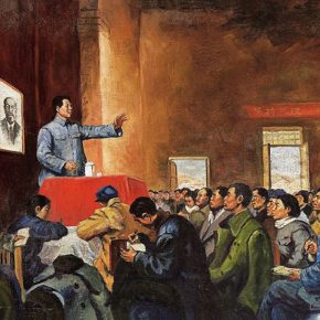 18-luo-gongliu-rectification-report-by-mao-zedong-in-yanan-oil-painting-164-x-234-cm