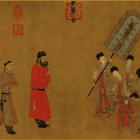 19-yan-liben-tang-dynasty-drawing-of-the-carriage-ink-and-color-on-silk-38-5-x-129-6-cm
