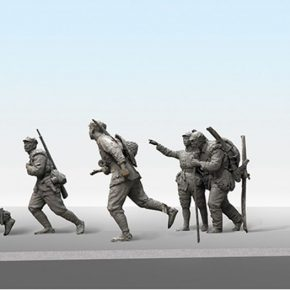 30 Wang Zhong from the School of Urban Design Crossed the Grassland bronze sculpture 80 x 310 x 120 cm 2016 290x290 - Long March of Art: Contemporary Multiple Artistic Context, What is the Thematic Creation?