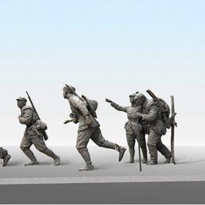 43-wang-zhong-from-the-school-of-urban-design-crossed-the-grassland-bronze-sculpture-80-x-310-x-120-cm-2016