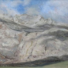 46-gao-hong-new-long-march-%c2%b7-snow-mountain-80-x-40-cm-oil-painting-2016