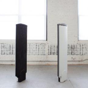 Hung LUN CHEN Guide Divide 2015 anti theft antenna plastic metal charcoal 150x30x10cm 290x290 - Taipei Fine Arts Museum presents the Exhibition of 2016 Taipei Arts Awards