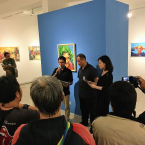 """01 View of the opening ceremony 290x290 - """"SELF SPACE"""": Xie Dongming's Solo Exhibition Opened at the National Gallery of Indonesia"""