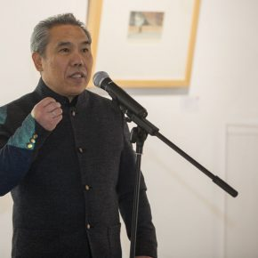 """01 Wang Shaojun a famous artist Deputy Secretary of CAFA Party Committee 290x290 - In the Name of """"Mentality"""": """"Wang Shaojun 2016 Watercolor Art Exhibition"""" Opened at the Words of Wisdom Art Space"""