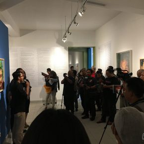 """03 View of the opening ceremony 290x290 - """"SELF SPACE"""": Xie Dongming's Solo Exhibition Opened at the National Gallery of Indonesia"""