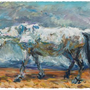 """05 Xie Dongming A White Horse acrylic on paper 115 x 72 cm 290x290 - """"SELF SPACE"""": Xie Dongming's Solo Exhibition Opened at the National Gallery of Indonesia"""
