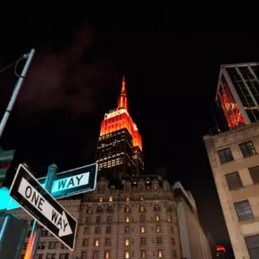 07 The Empire State Building was illuminated for the Chinese New Year